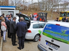 Inauguration of the CNG filling station in Písek