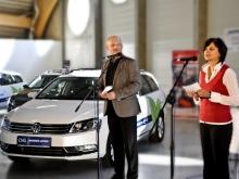 Handover of new company CNG VW Passat October 2011, České Budějovice