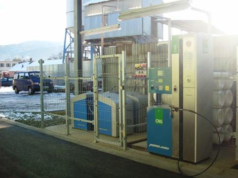 CNG filling station in the company TDS ZAMPRA spol. s r.o. in Frýdlant nad Ostravicí