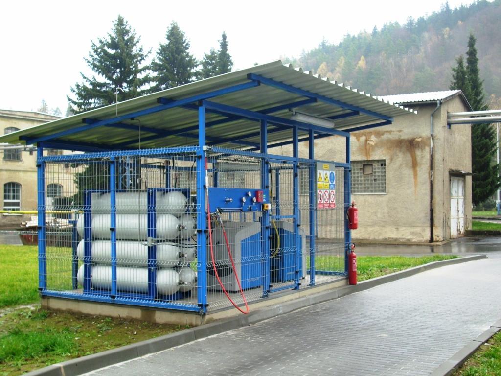 Plnicí stanice CNG OP Papírna