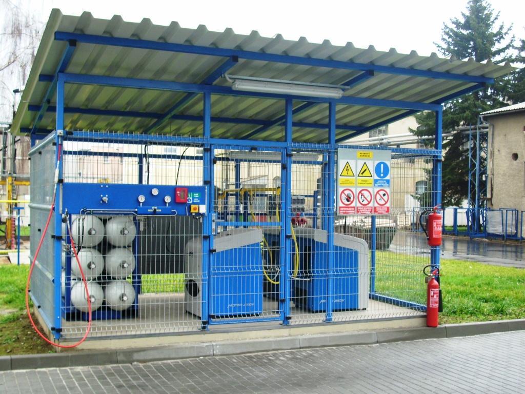 CNG plnicí stanice OP Papírna