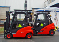 Fork-lift trucks in Častolovice Isover convert to CNG