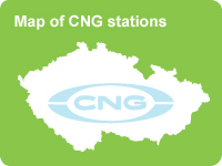 Map of CNG stations in Czech Republic