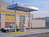 The Plzeň depo of Česká pošta (Czech Post) is now filling CNG on its premises